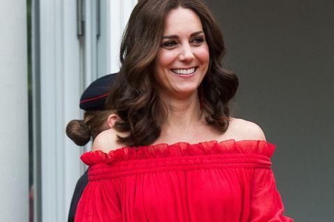 Ein Traum in Rot: So umwerfend sah Herzogin Kate in Berlin aus