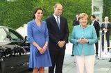 William und Kate: mit Bundeskanzlerin Angela Merkel