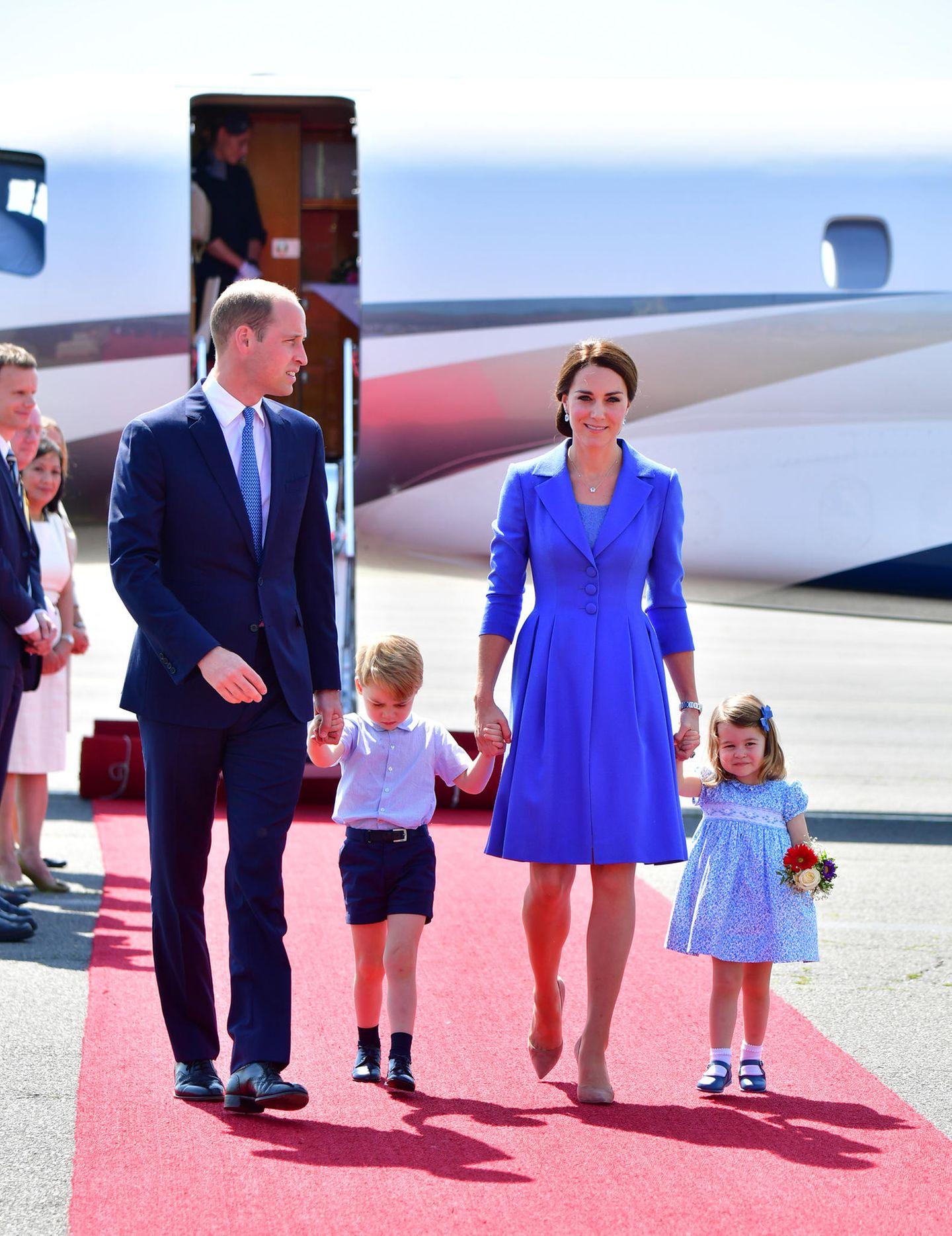 William und Kate mit ihren Kindern Prinz George und Prinzessin Charlotte