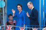William und Kate winken ihren Fans