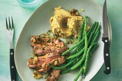 Rosmarin-Steak mit Kichererbsenpüree