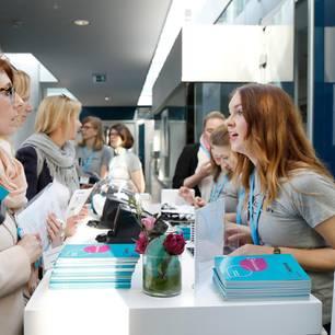 Einlass beim 2. BRIGITTE Job-Symposium im Hanse Gate, Hamburg.
