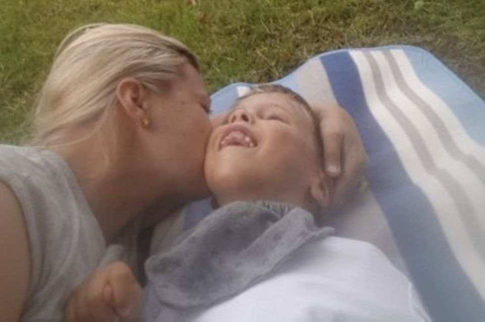 """""""Es geht darum, dass Lenny lacht"""" - Steffi und ihr Sohn."""