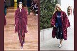 Streetslooks mit Pantone Farbtrend Herbst 2017 Tawny Port