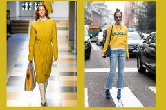 Streetslooks mit Pantone Farbtrend Herbst 2017 Lemon Curry