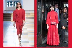 Streetslooks mit Pantone Farbtrend Herbst 2017 Flame Scarlet