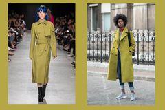 Streetslooks mit Pantone Farbtrend Herbst 2017 Golden Olive