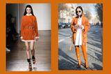 Streetslooks mit Pantone Farbtrend Herbst 2017 Autumn Maple