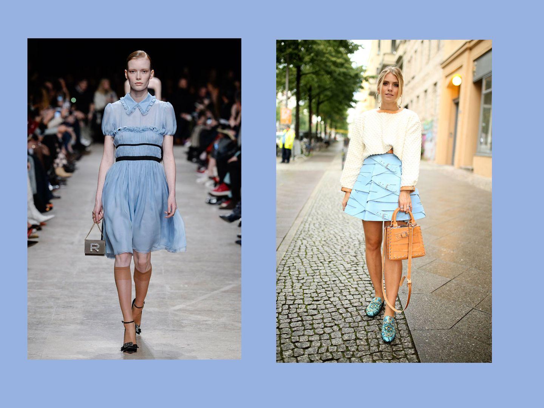 Streetslooks mit Pantone Farbtrend Herbst 2017 Bluebell