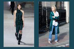 Streetslooks mit Pantone Farbtrend Herbst 2017 Shaded Spruce