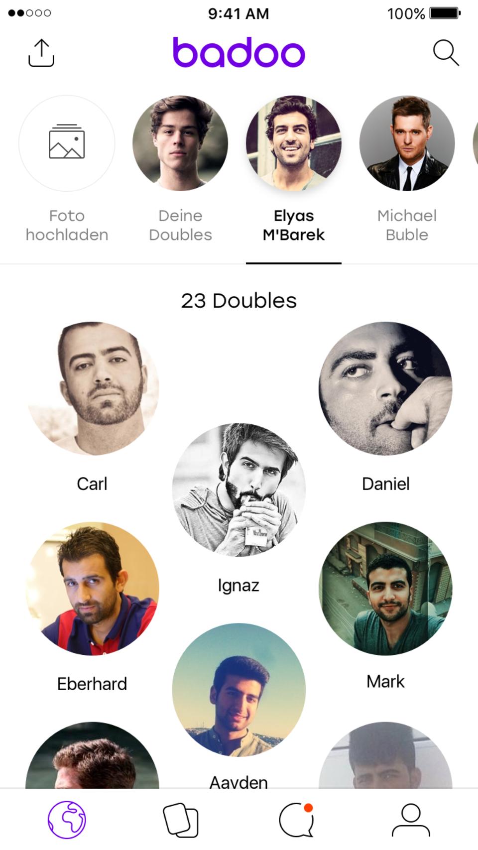 Badoo App - Screenshot Elias M'Barek
