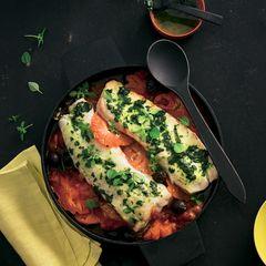 Seelachs auf Tomaten