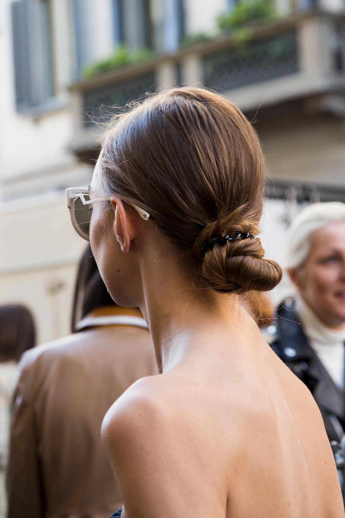 Sommerlicher Haarknoten