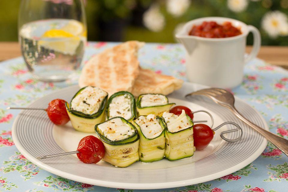 Zucchini-Käse-Spieße