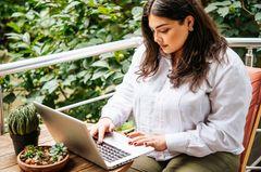 Bloggerin shoppt online