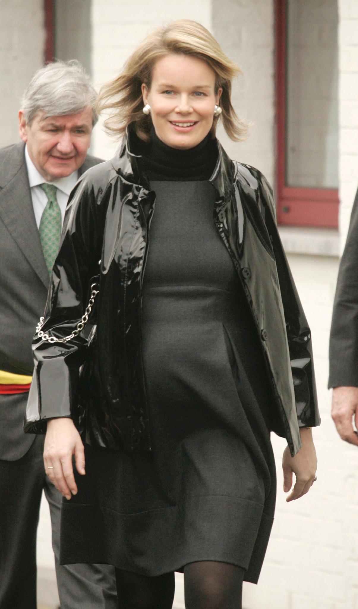 Prinzessin Mathilde von Belgien 2008 schwanger