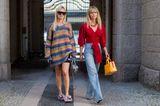 Cooler Streetstyle von zwei Frauen bei der Copenhagener Fashion Week