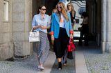 Streetstyle von zwei Frauen bei der Copenhagener Fashion Week