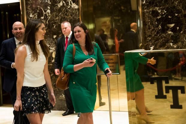Hope Hicks (links) mit Sprecherin Sarah Huckabee Sanders
