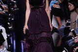 Kleid mit Samteinsatz bei Elie Saab