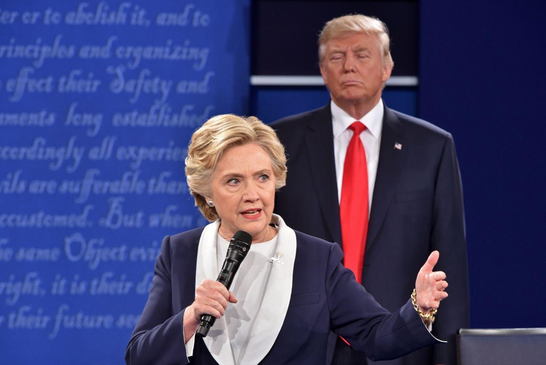 Hillary Clinton über Donald Trump