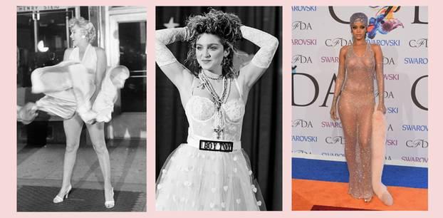Kleider-Skandal bei Marilyn Monroe, Madonna und Rihanna