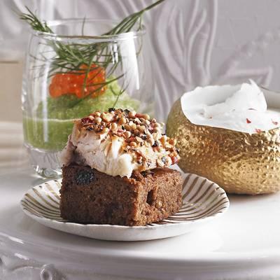 Vorspeise zu Weihnachten: Getränkter Honigkuchen