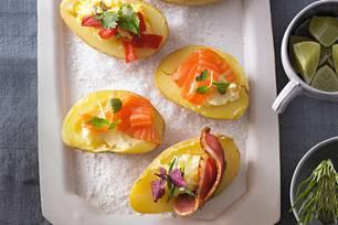 Vorspeise für Weihnachten: Kartoffel-Canapés