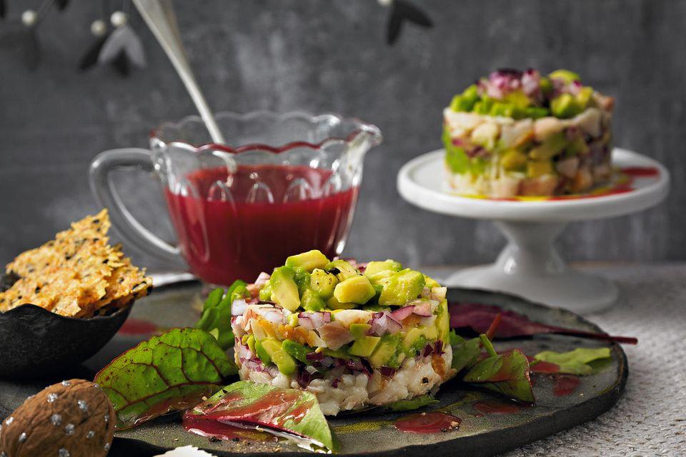 Vorspeise zu Weihnachten: Forellen-Avocado-Tatar