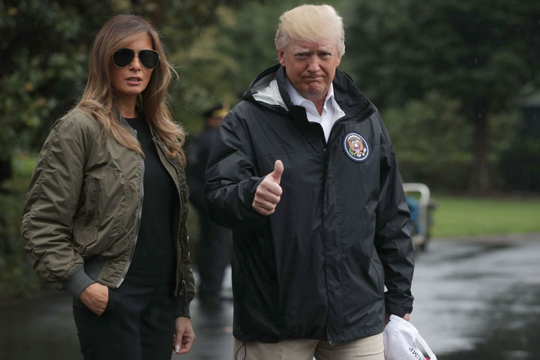 Donald und Melania Trump in Texas - heftige Kritik für Style-Auftritt