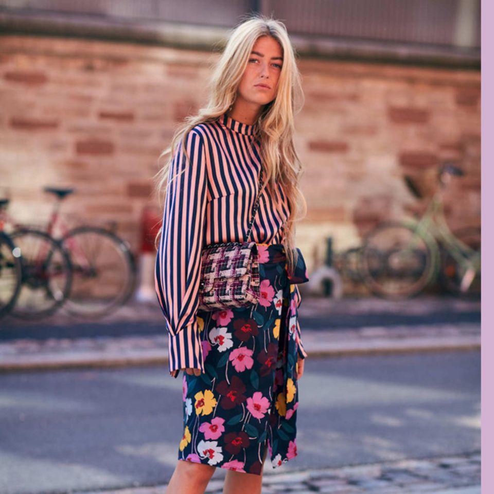 Blogger tragen wilden Mustermix