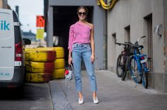 Stockholm Fashion Week Streetsttyle mit Bluse