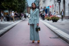 Stockholm Fashion Week Streetstyle Hosenanzug