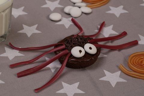 Spinnen-Muffins für Halloween