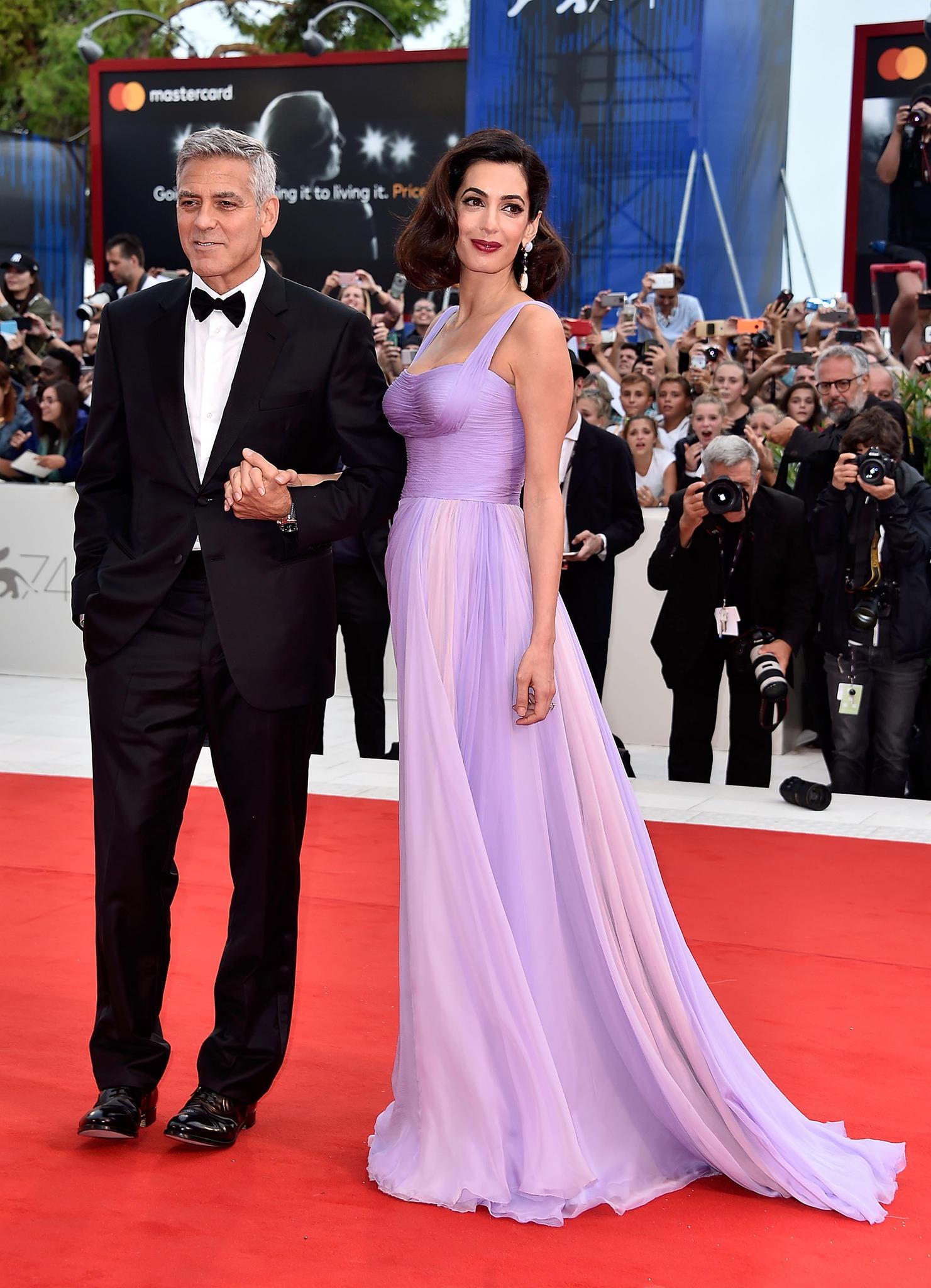 Filmfestspiele von Venedig: George und Amal Clooney