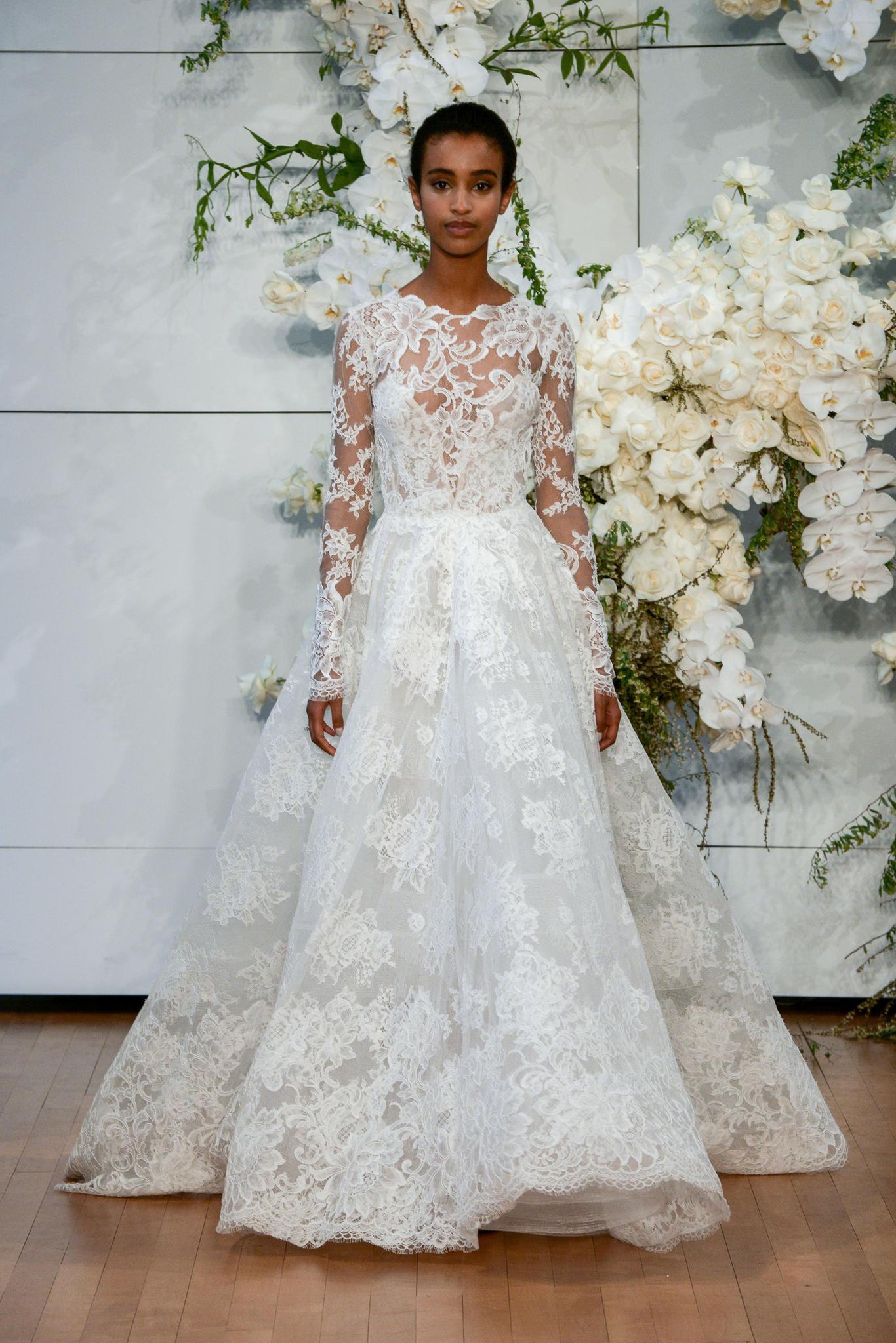 Brautkleider-Trends 2018: Kleider in A-Linie bei Monique Lhuillier