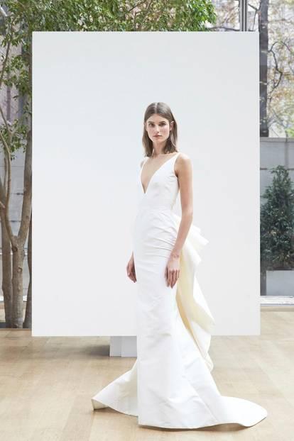 Brautkleider-Trends 2018: ausladende Volants bei Oscar de la Renta