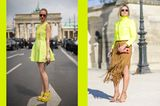 Pantone Frühjahr 2018: Farbe Lime Punch als Streetstyle
