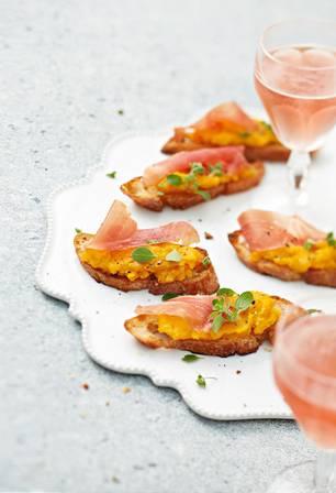 Crostini mit Butternut-Kürbiscreme