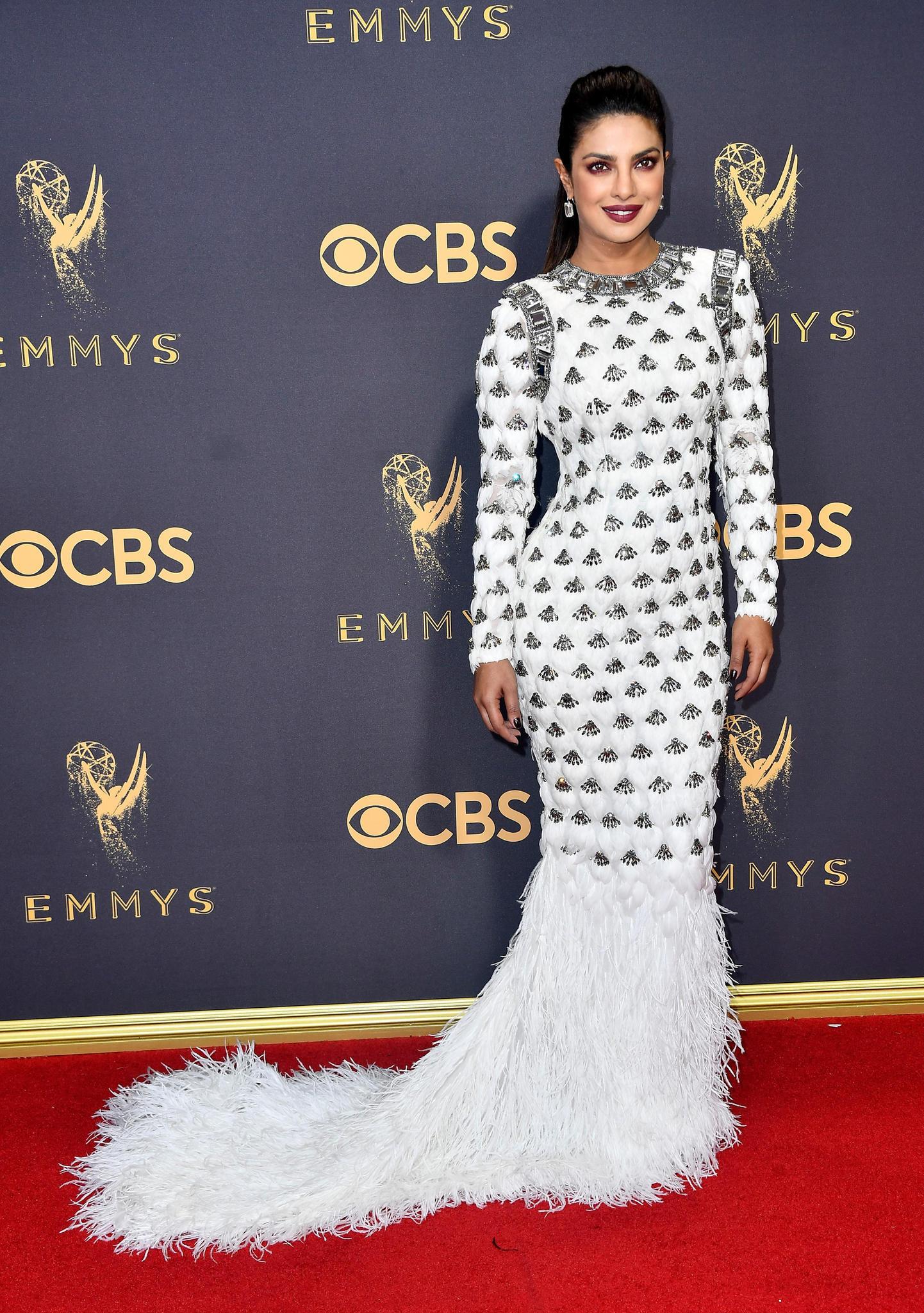 Emmys 2017 mit Priyanka Chopra auf dem Roten Teppich