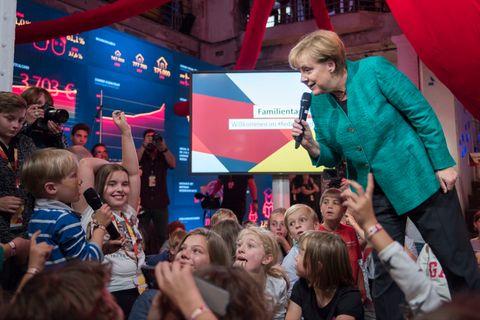 Angela Merkel beim CDU-Familientag
