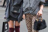 Streetstyle mit Leoparden-Muster bei der London Fashion Week