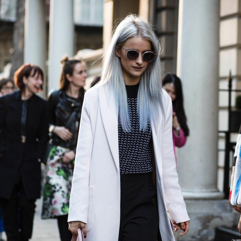 Trendfrisuren: Lange Haare mit Dip-Dye