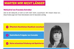 Franziska Schreiber auf FDP.de