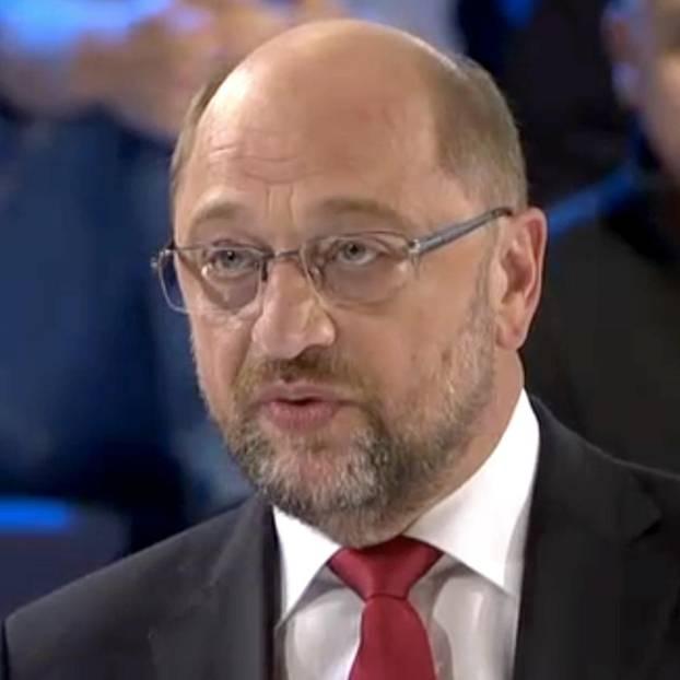 Martin Schulz in der Wahlarena