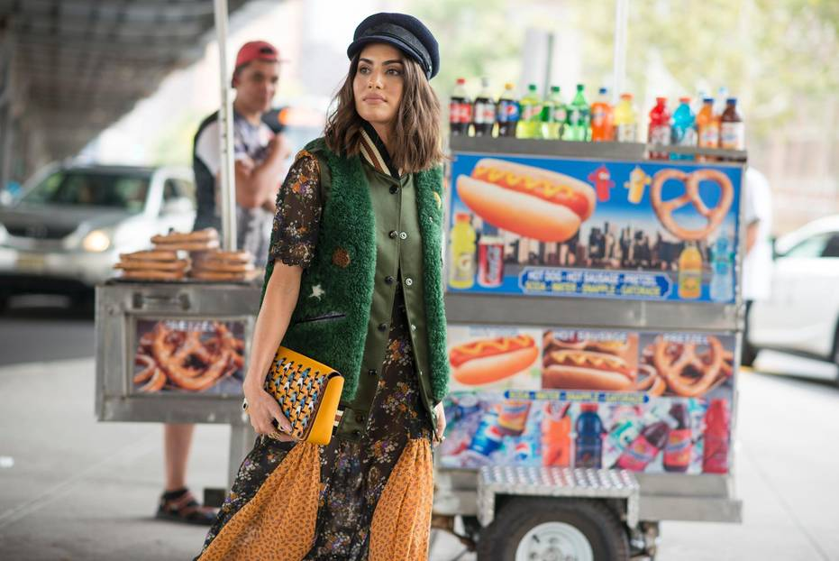 Baker Boy Mütze bei der New York Fashion Week