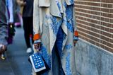 Milan Fashion Week Streetstyle mit Perlen-Accessoire