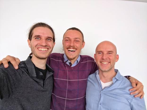 Sie wollen nur mal kurz die Lebensmittel dieser Welt retten: SirPlus-Gründer Martin Schott, Raphael Fellmer und Alexander Piutti (v. links)