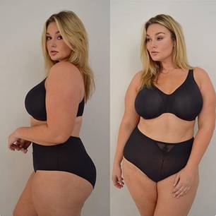 Plus Size Model Hunter McGrady in Dessous
