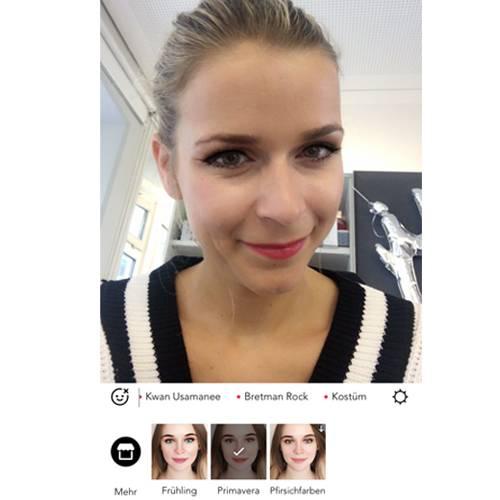 Karo testet die Make-up Plus App